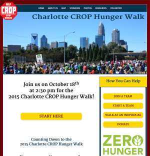 Responsive Website for Charlotte CROP Hunger Walk