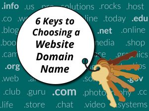 6 Keys to Choosing a Website Domain Name