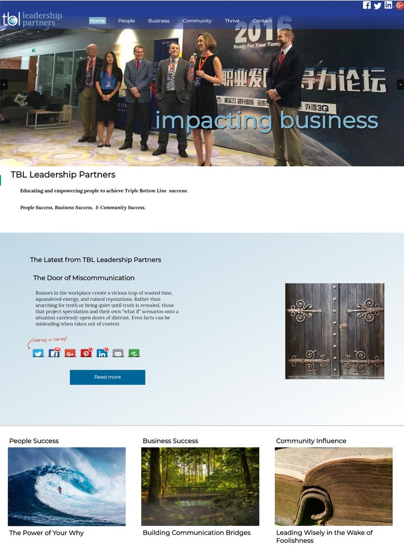 Website Redesign for TBL Leadership Partners