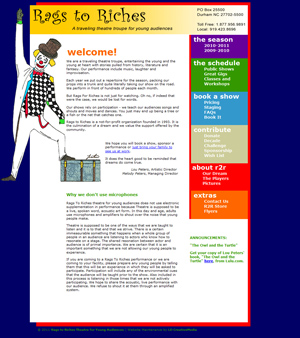 image of Rags to Riches website