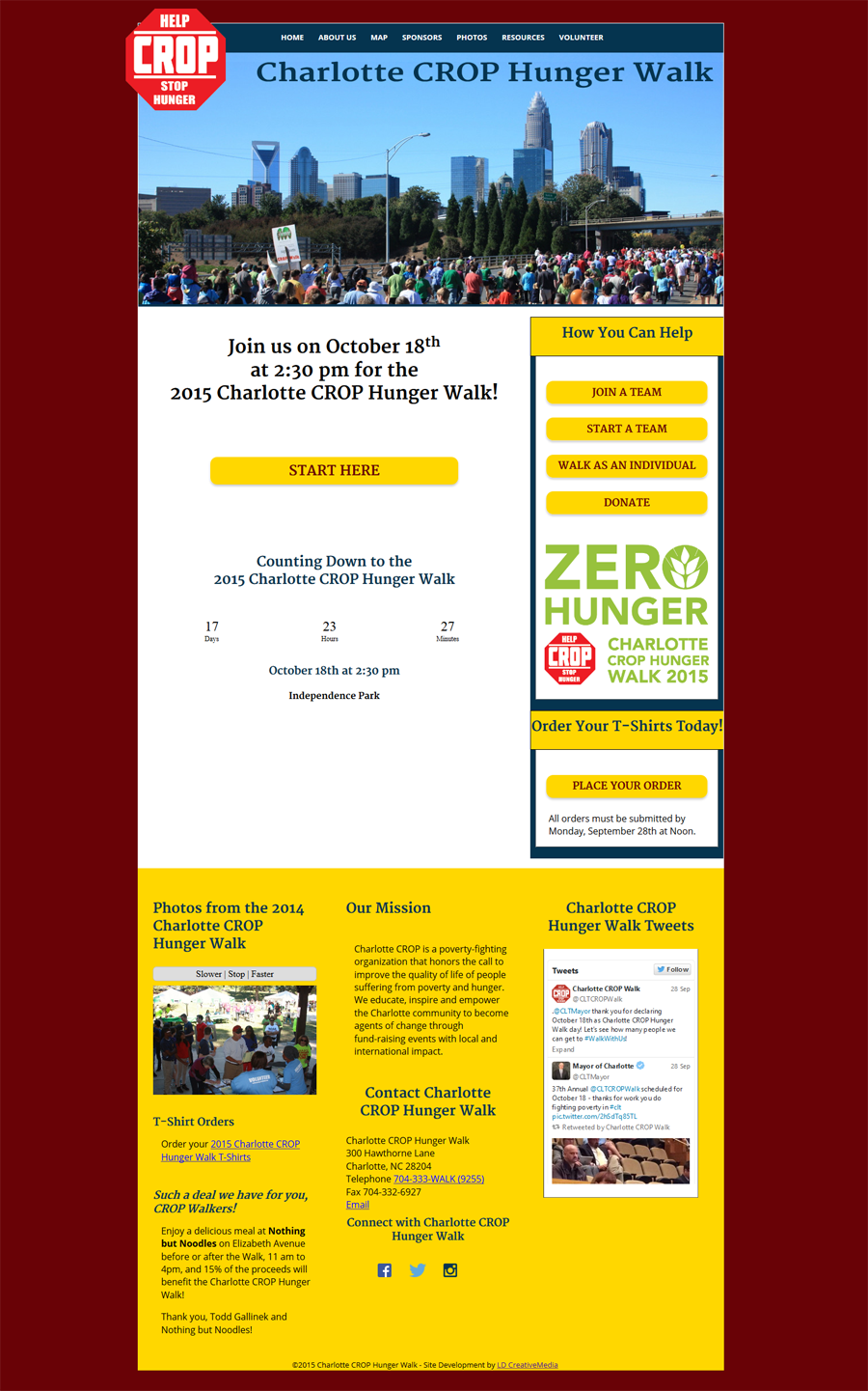 New Responsive Website for Charlotte CROP Hunger Walk