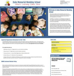 Duke Memorial Weekday School Website