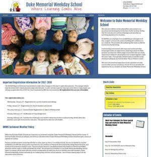 Duke Memorial Weekday School Website
