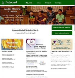 Website Redesign for ParkwoodUMC